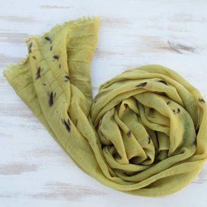 Fular lana-seda goldenrod green